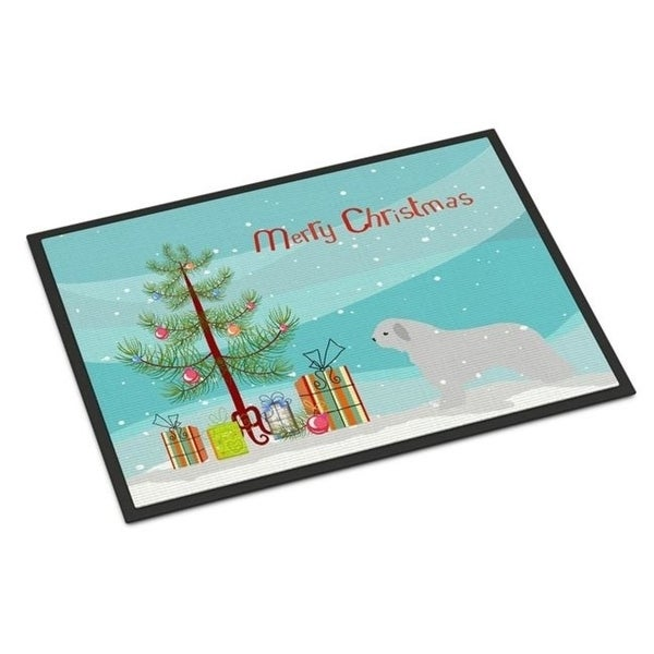 Carolines Treasures BB2933MAT Spanish Water Dog Merry Christmas Tree Indoor or Outdoor Mat 18x27