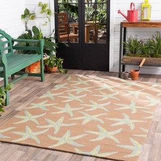 Hand-hooked Mia Transitional Starfish Indoor/Outdoor Area Rug