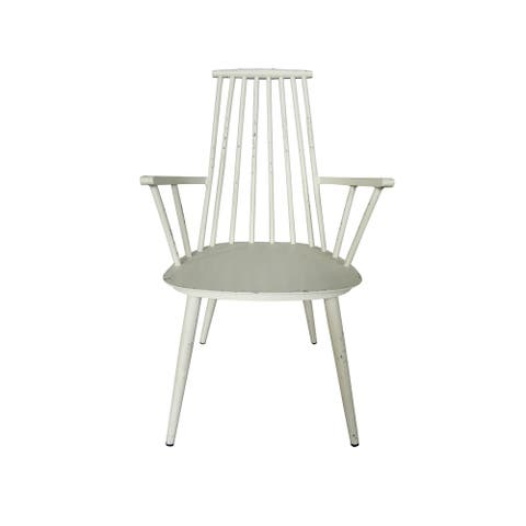 Hancock Aluminum Retro White Indoor/Outdoor Dining Chair (Set of 2)