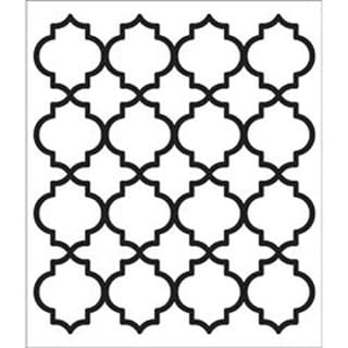 "Moroccan Tile - FolkArt Painting Stencil 8.5""X10"""