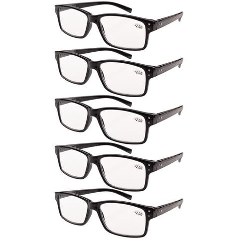 2056f2fb471 3. Eyekepper Reading Glasses 5-Pack Vintage Readers