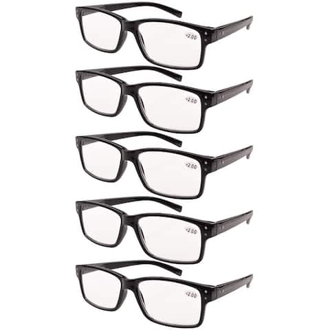 57727ef19d00 Eyekepper Reading Glasses 5-Pack Vintage Readers