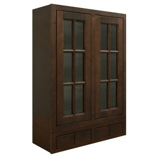 """Healdsburg 30"""" x 42"""" Wall Cabinet with Glass Doors and 4 Drawers"""