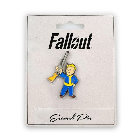 Fallout Basher Perk Pin Official Fallout Video Series Game Small Enamel Pin - Blue