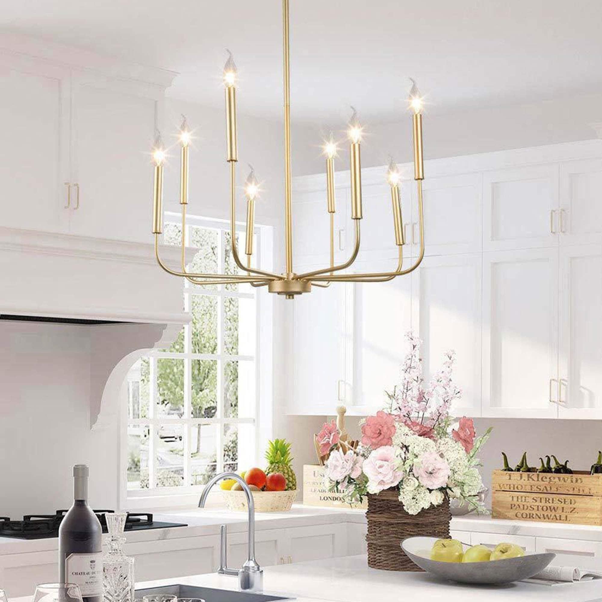 Custom Hanging Pendants Modern Lighting 5 Light Pendant Swag Chandelier Brass LED Gold Dip Bulbs Bedroom Lighting Chandelier