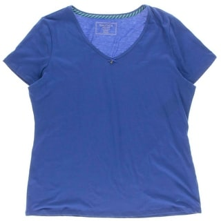Nautica Womens Sleep Tee Short Sleeves Scoop Neck - XL