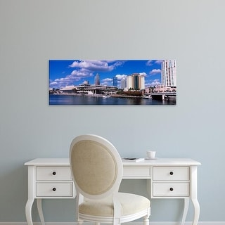 Easy Art Prints Panoramic Images's 'Buildings at the coast, Tampa, Hillsborough County, Florida, USA' Canvas Art