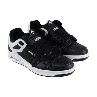 Osiris Peril Mens White Black Synthetic Athletic Lace Up Training Shoes