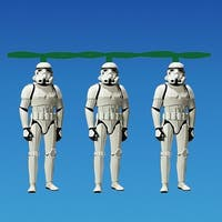 Set of 10 Star Wars Storm Trooper Novelty Christmas Lights - Green Wire - CLEAR