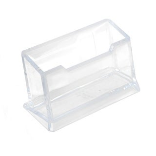 Company Office Plastic Business Name Card Holder Display Stand Container