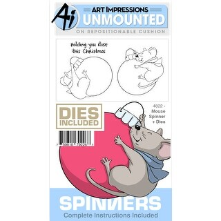 Art Impressions Spinners Stamp & Die Set-Mouse