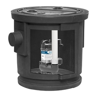 ProFlo PF93084 1/2 HP Simplex Sewage Pump Kit with Steel Motor Housing - Pump Includes Vertical Switch