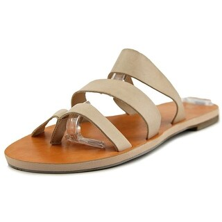 BC Footwear Peanut Women Open Toe Leather Nude Slides Sandal
