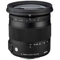 Sigma 17-70mm f/2.8-4 DC Macro OS HSM Lens for Canon (International Model) - black