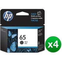 HP 65 Black Original Ink Cartridge (N9K02AN)(4-Pack)