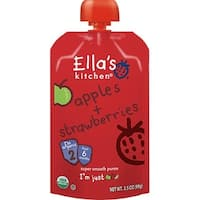 Ella's Kitchen  - Apples & Strawberries Puree ( 12 - 3.5 OZ)