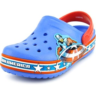 Crocs Crocband Captain America Clog Toddler Round Toe Synthetic Blue Clogs