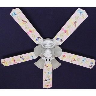 Disney's Princess Pink Flower Print Blades 52in Ceiling Fan Light Kit - Multi