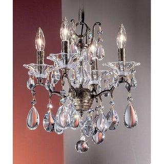 "Classic Lighting 9054-ABG 15"" Crystal Mini-Chandelier from the Garden of Versailles Collection"