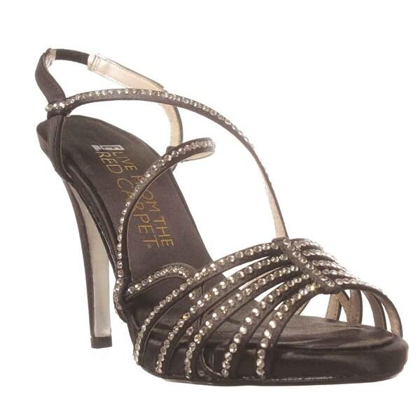 E! Live From The Red Carpet Womens TARA Satin Open Toe Formal Slide Sandals