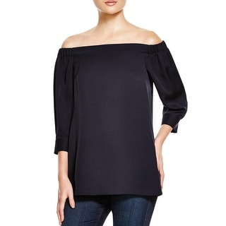 Theory Womens Blouse Silk Ruched