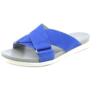 Franco Sarto Lure Open Toe Leather Slides Sandal