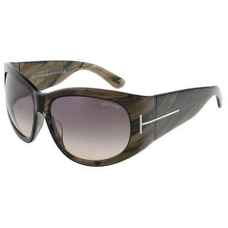 Tom Ford FT0404/S 50B Felicity Olive Horn Rectangle Sunglasses