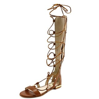 Louise et Cie Kaelyn Women Open Toe Leather Brown Gladiator Sandal