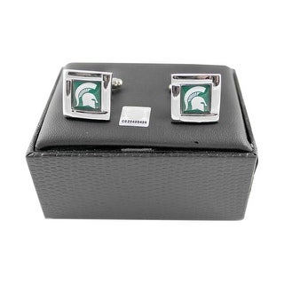 NCAA Michigan State Spartans Square Cufflinks Gift Box Set