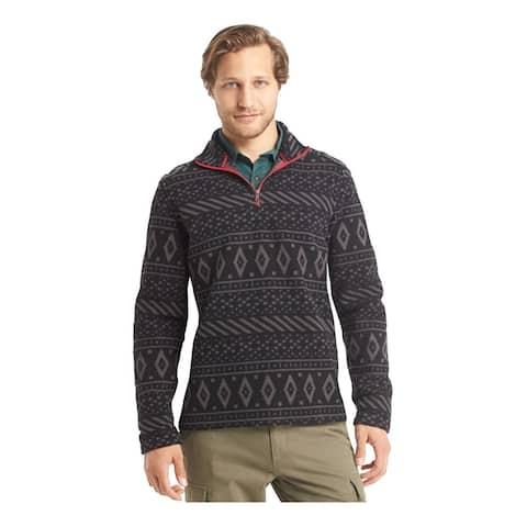 G.H. Bass & Co. Mens Printed Sweatshirt, Black, Small