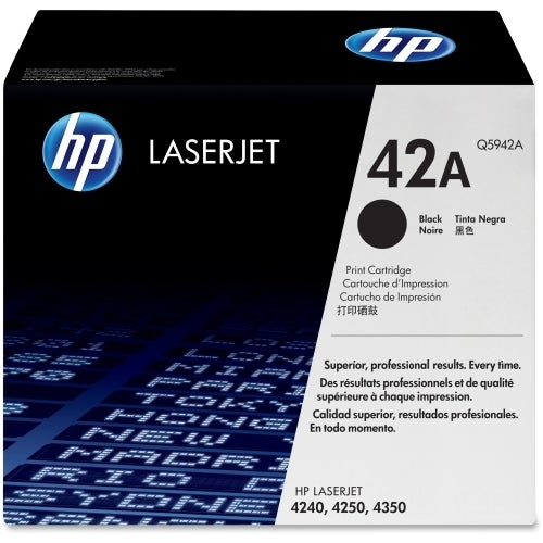 HP 42A High Yield Black Original LaserJet Toner Cartridge (Q5942A)(Single Pack)