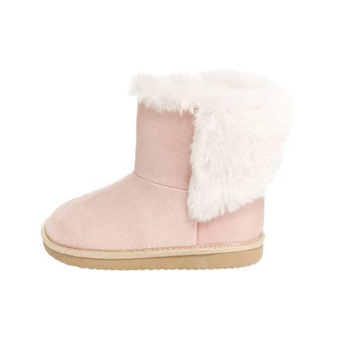 Kids OshKosh B'Gosh Girls Ember Fabric Ankle Slip On Platform Boots