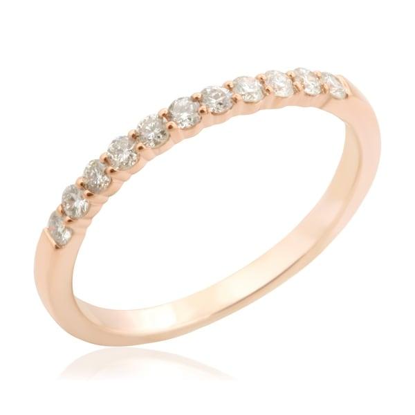 Brand New Round Brilliant Cut 0.25 Carat Natural Diamond Wedding Band
