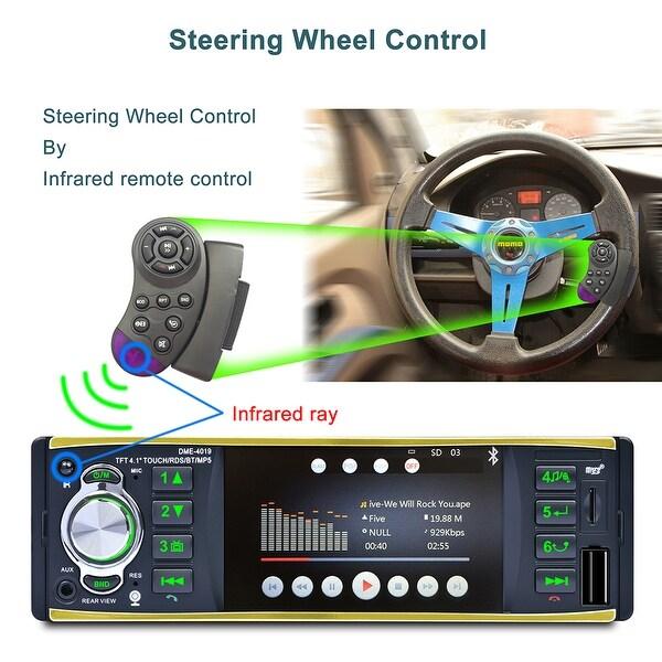 Car MP5 Player Stereo Radio Bluetooth 4.1/'/' HD Screen Aux W//Remote 1 Din 4019B E