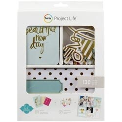 Heidi Swapp -Gold Foil - Project Life Mini Kit