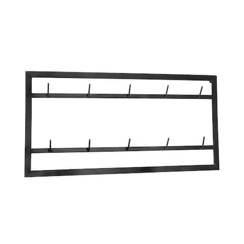 Black Metal 10-Hook Mug Wall Rack