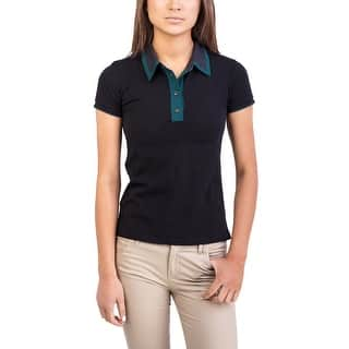 Prada Women's Cotton Polo Shirt Black|https://ak1.ostkcdn.com/images/products/is/images/direct/f1cd25f92202f1a8c7e2d21fbf66b2bab931e0c1/Prada-Women%27s-Cotton-Polo-Shirt-Black.jpg?impolicy=medium