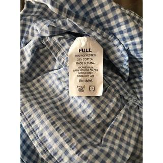 Shop Copper Grove Redwood Blue Gingham Bedspread Free