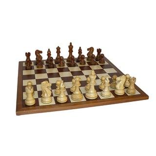 Sheesham Classic Chess Set With Sapele Board - Multicolored