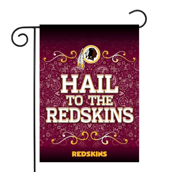 """18"""" x 13"""" Red and White NHL Washington Redskins Outdoor Garden Flag - N/A"""