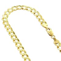 Mcs Jewelry Inc 14 KARAT YELLOW GOLD SOLID CUBAN CURB LINK CHAIN NECKLACE (5.7MM)