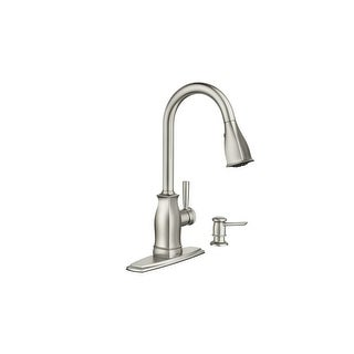 Moen 87024M  Hensley Kitchen Faucet with Pullout Spray and Soap Dispenser with Reflex Technology - Spot Resist Stainless