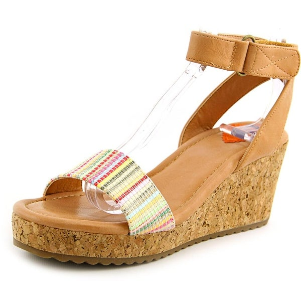 Rocket Dog Edda Women Open Toe Canvas Wedge Sandal