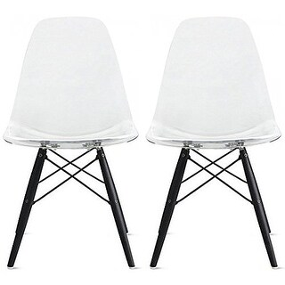 Clara Midcentury Modern Dining Chairs Set of 2 Free Shipping