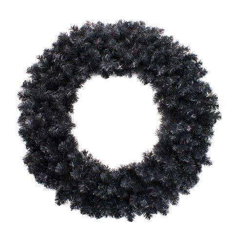 "36"" Black Colorado Spruce Artificial Christmas Wreath - Unlit"