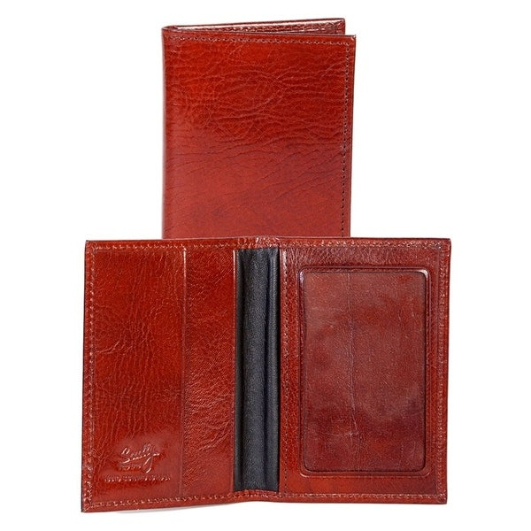 Scully Western Wallet Crocodile Print Leather ID Card Case - One size