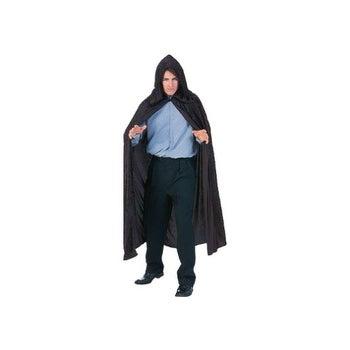 Black Velvet Hooded Cloak