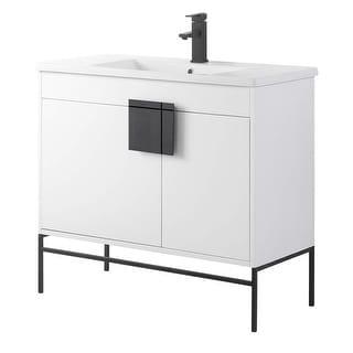 Link to Modern Bathroom 36-inch Vanity with Vitreous China Sink Similar Items in Bathroom Vanities