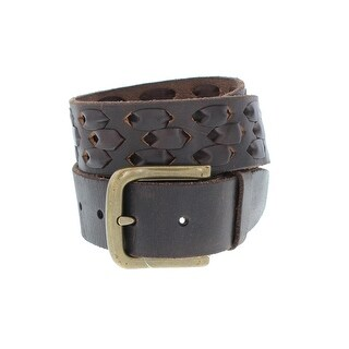 John Varvatos Mens Casual Belt Leather Laced Detail