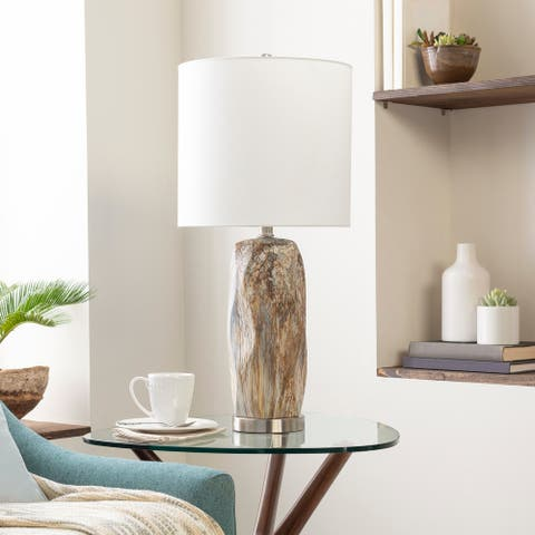 Carbon Loft Hutchinson Contemporary Marbled Ceramic 28.75-inch Table Lamp
